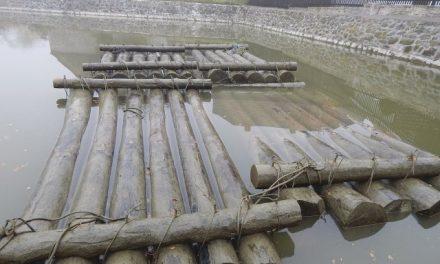Dřevo pro neobvyklou věž připlulo po Labi