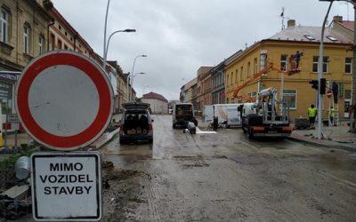 Dokončují další část oprav. Budějovickou ulici v Táboře konečně zprůjezdní