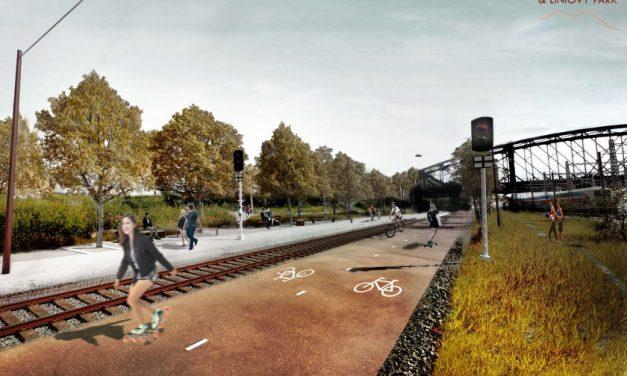 High Line po česku: Drážní promenáda a liniový park spojí Vršovice a Strašnice