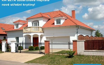 KM BETA obdarovává majitelé nové střešní krytiny