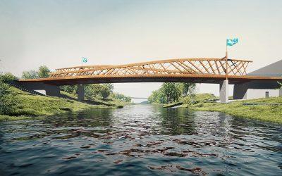 Nový most za stovky milionů zrezaví, oheň by mohl ukazovat čas